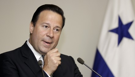 Panama's Vice president and Minister of the Exterior Juan Carlos Varela speaks about the situation in Honduras at a news conference in Panama City July 21, 2009.  REUTERS/Alberto Lowe (PANAMA POLITICS)